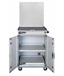 Computerschrank mit Lochwand RAL7035